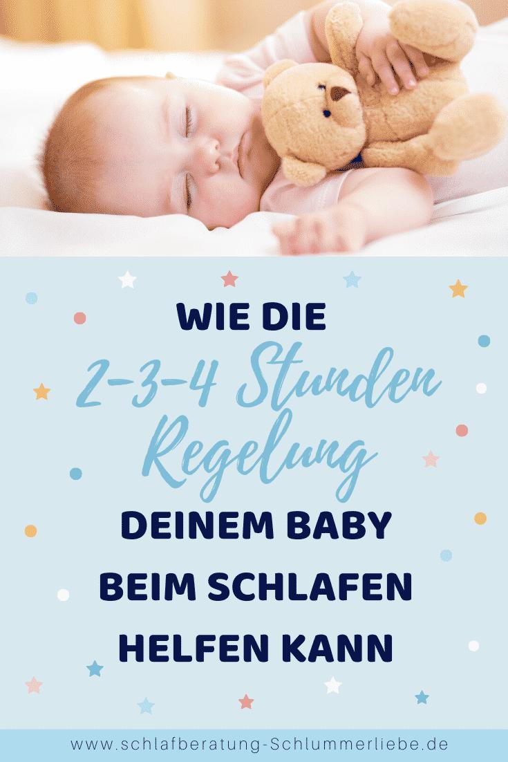 Wie die 2-3-4 Stunden Regelung deinem Baby beim Schlafen helfen kann