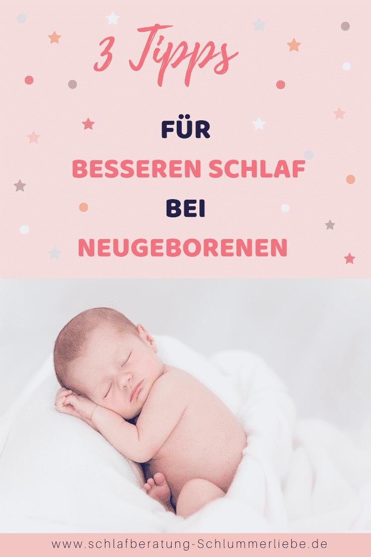 3 Tipps für besseren Schlaf bei Neugeborenen