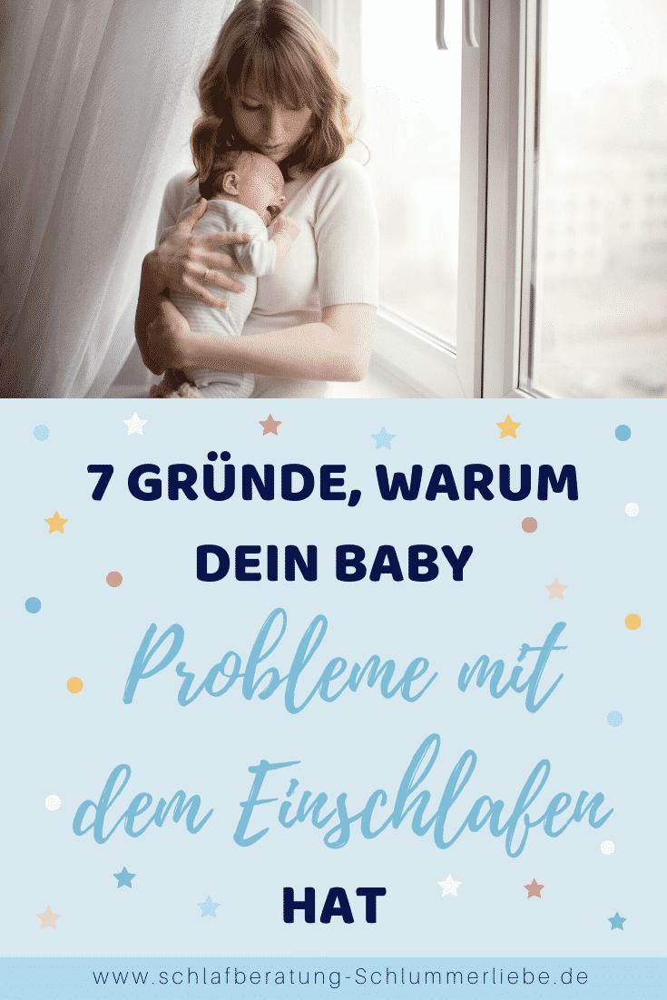 7 Gründe, warum dein Baby Problem beim Einschlafen hat