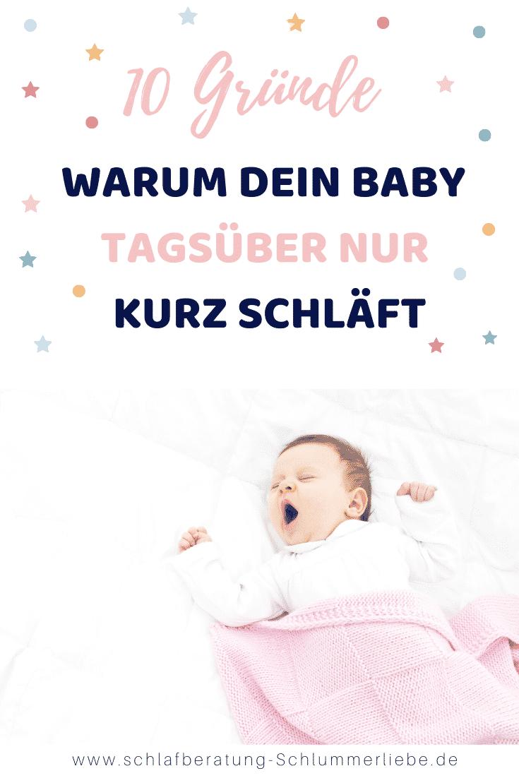 10 Gründe warum dein Baby nur kurz schläft